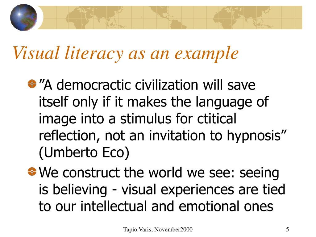 Visual literacy as an example