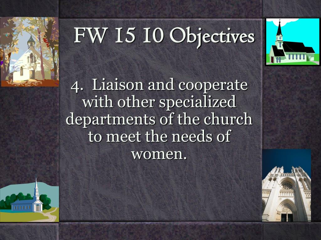 FW 15 10 Objectives
