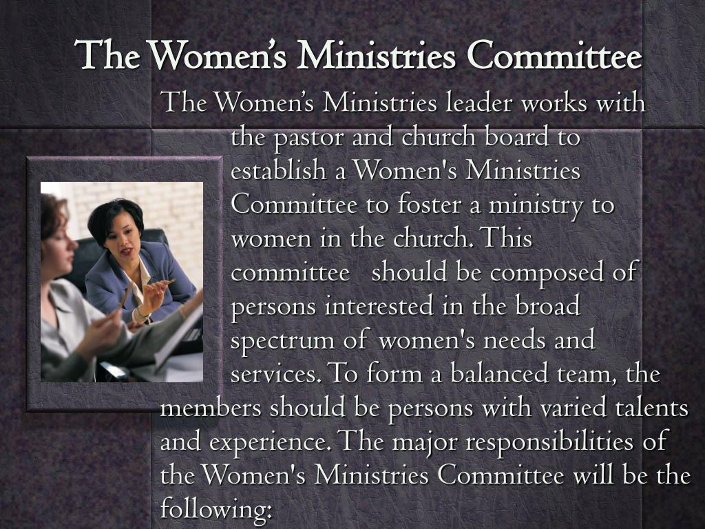 The Women's Ministries Committee