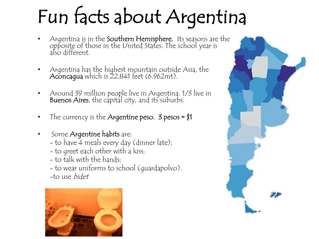 Fun facts about Argentina