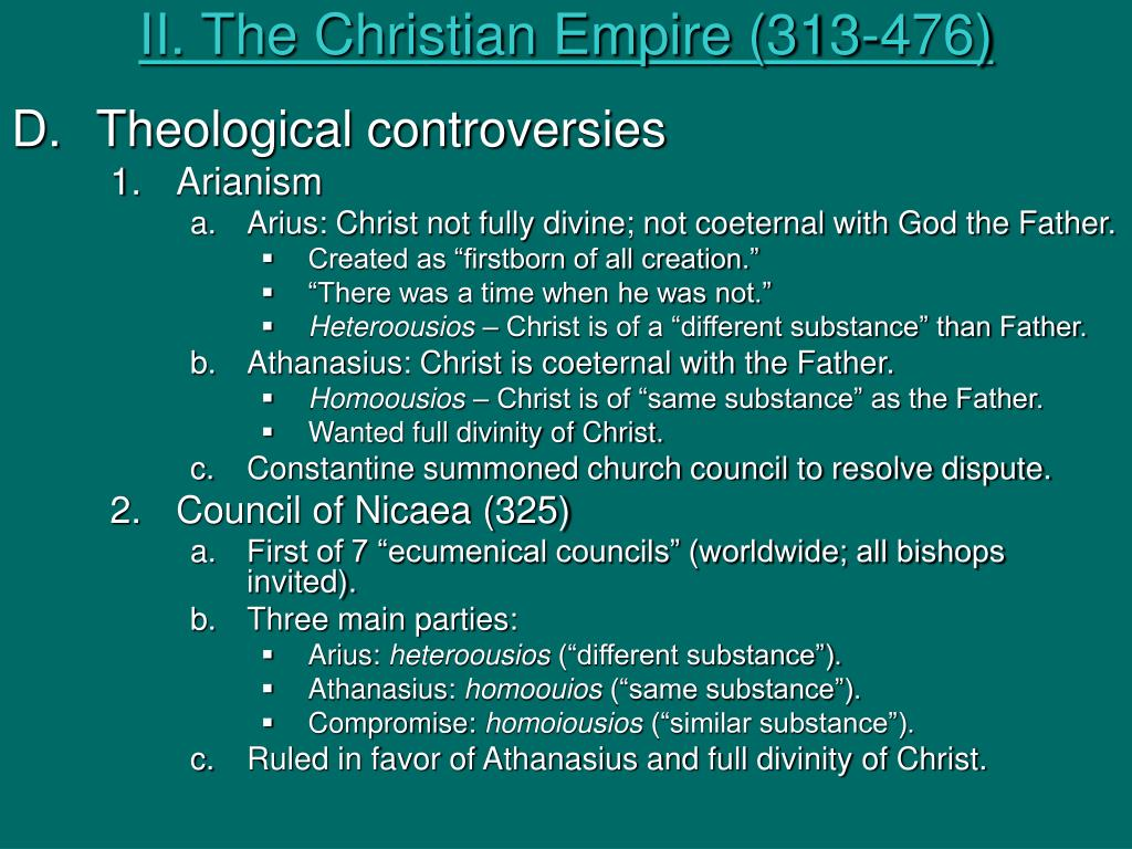 II. The Christian Empire (313-476)