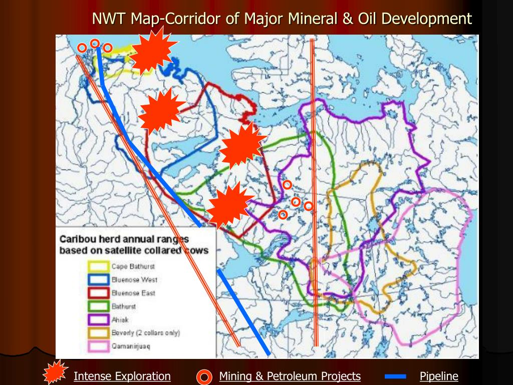 NWT Map-Corridor of Major Mineral & Oil Development