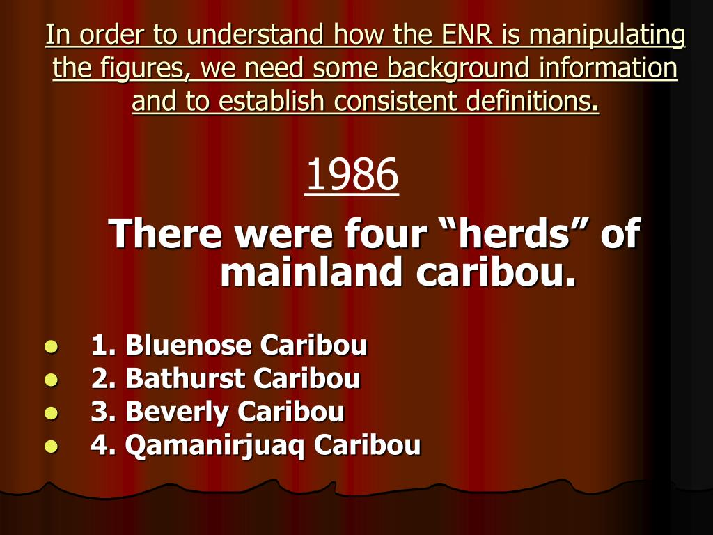 In order to understand how the ENR is manipulating the figures, we need some background information and to establish consistent definitions