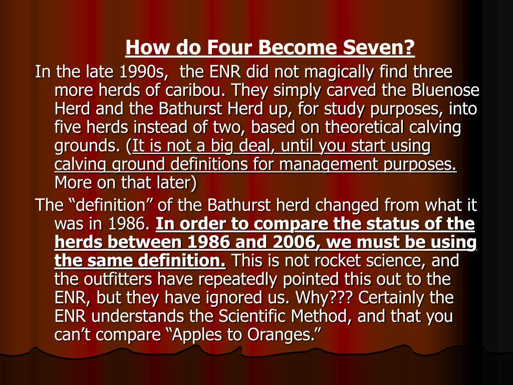 How do Four Become Seven?