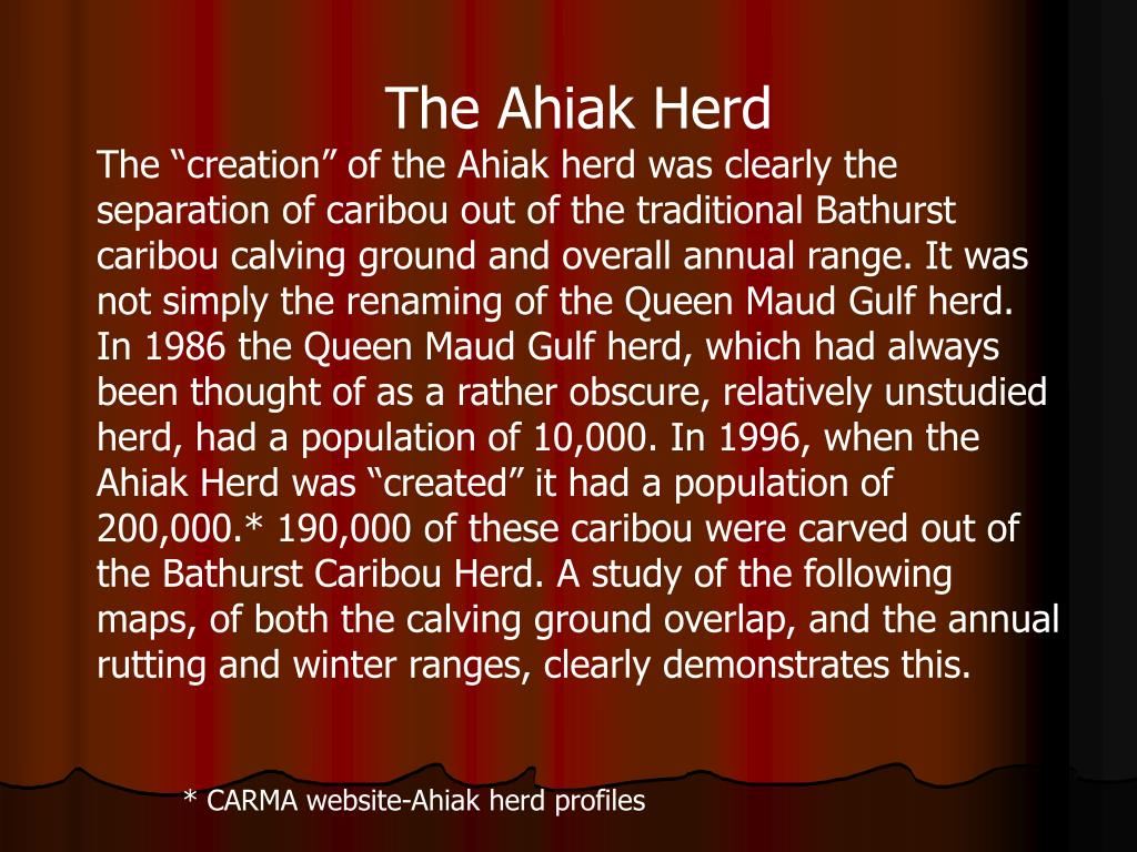 The Ahiak Herd
