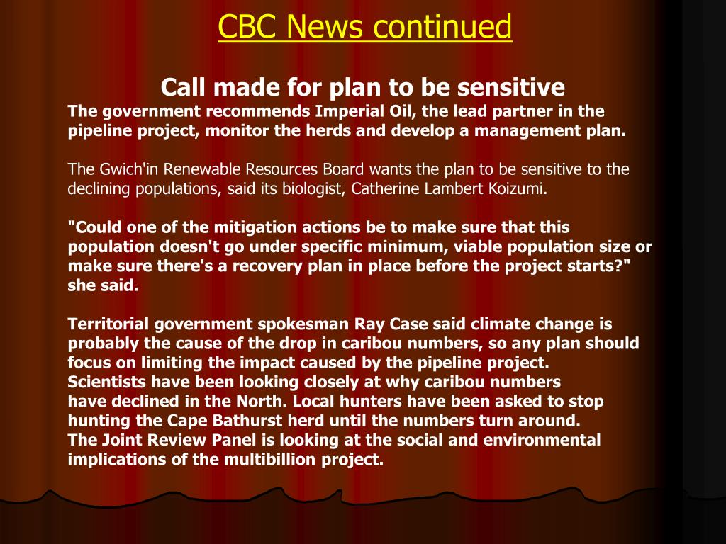 CBC News continued