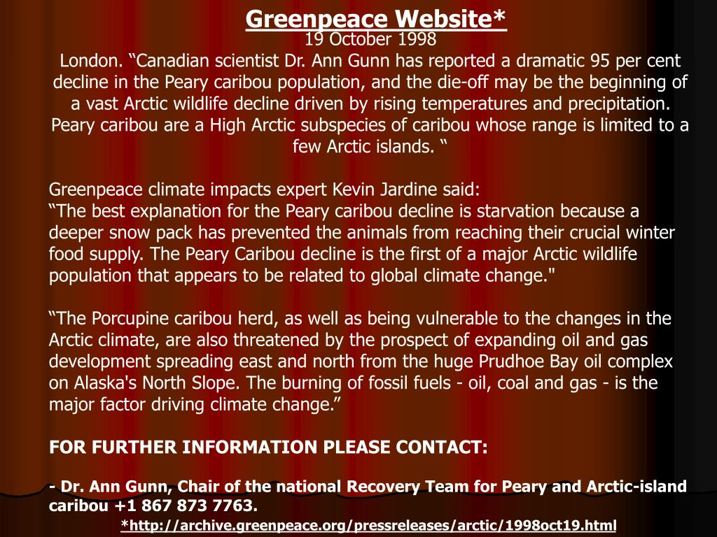 Greenpeace Website*