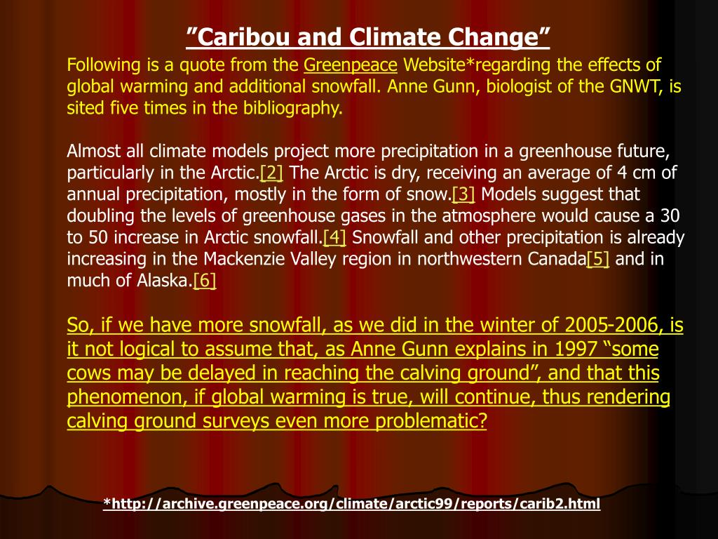 """Caribou and Climate Change"""