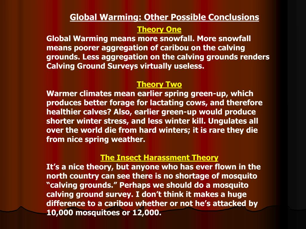 Global Warming: Other Possible Conclusions