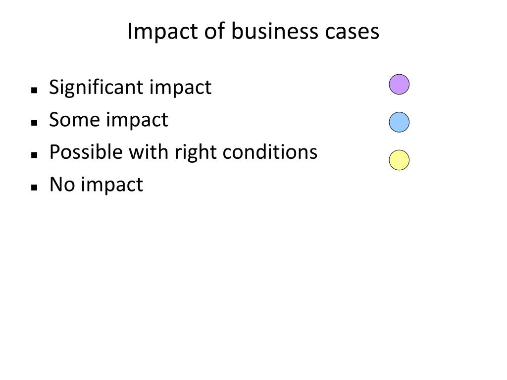 Impact of business cases