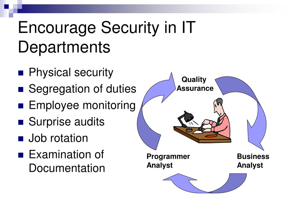 Encourage Security in IT Departments