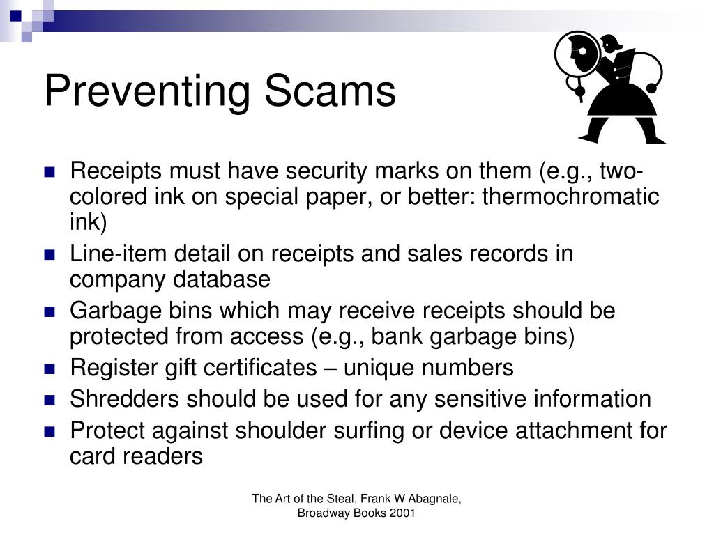 Preventing Scams