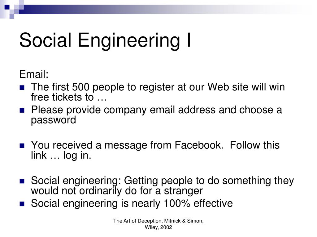 Social Engineering I