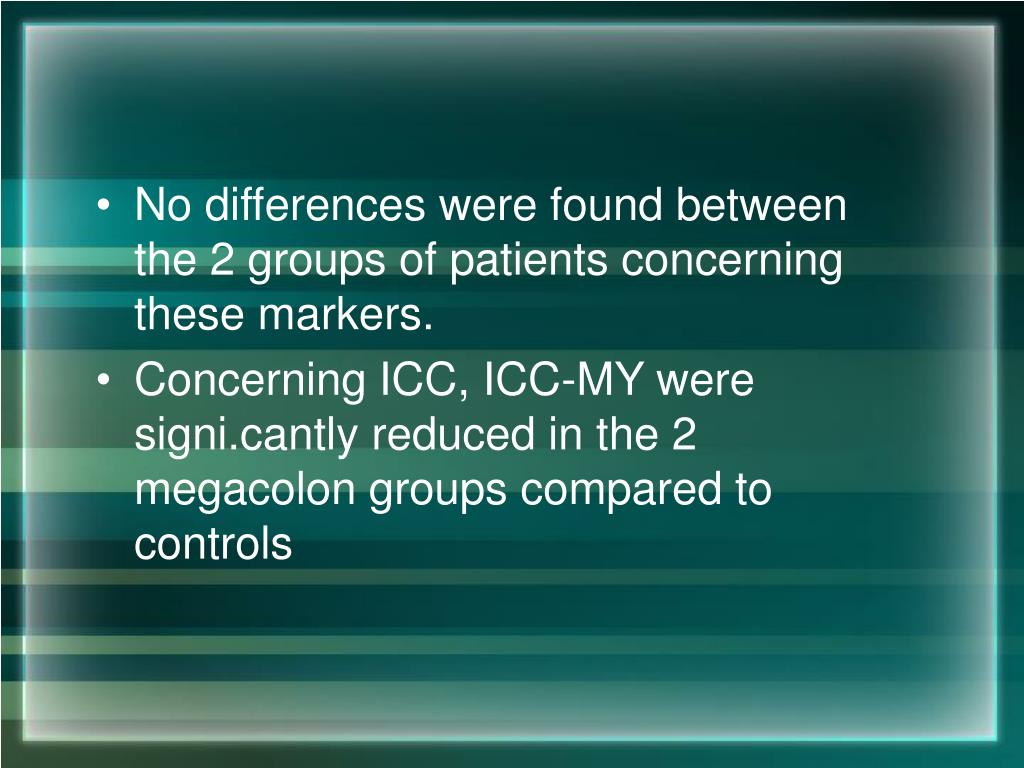No differences were found between the 2 groups of patients concerning these markers.