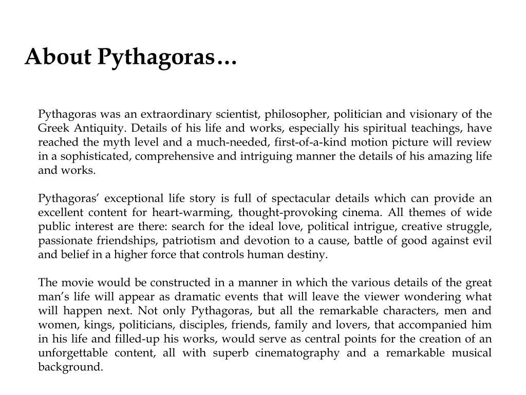 About Pythagoras…