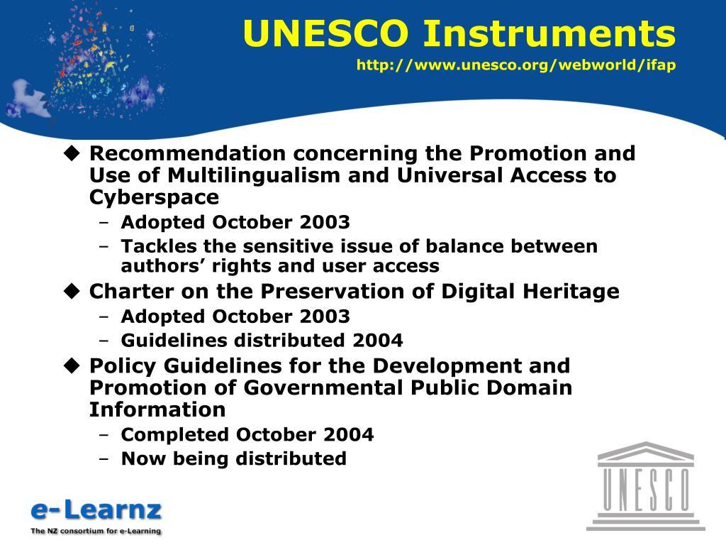 UNESCO Instruments