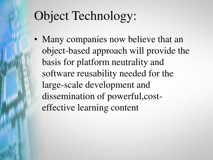 Object Technology: