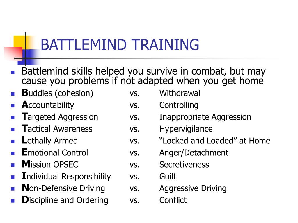 BATTLEMIND TRAINING