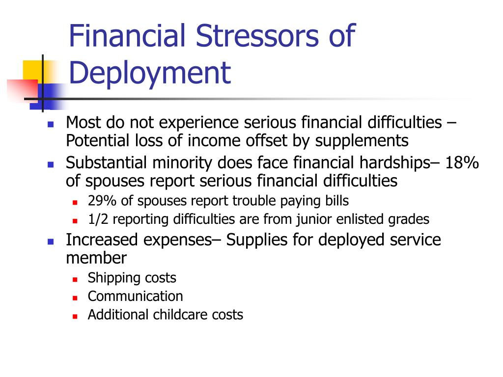Financial Stressors of Deployment