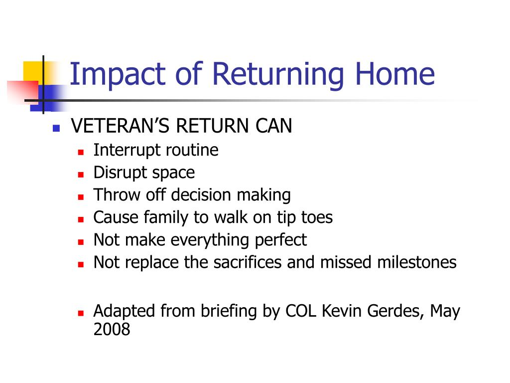 Impact of Returning Home