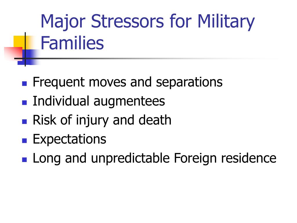 Major Stressors for Military Families
