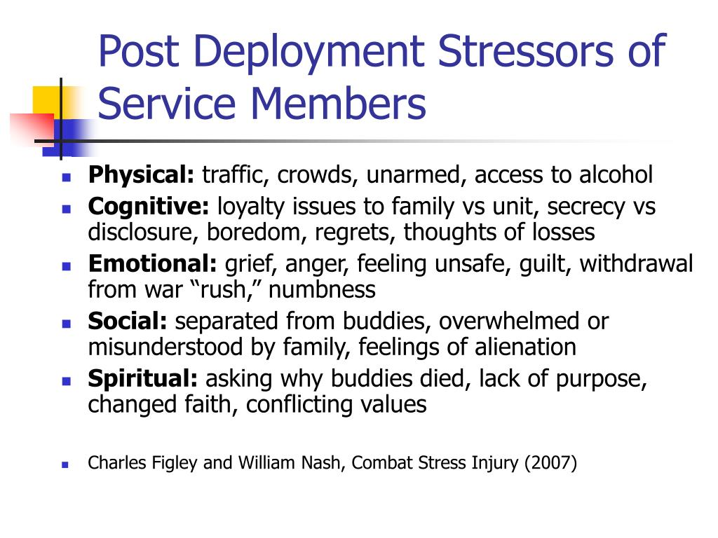 Post Deployment Stressors of Service Members