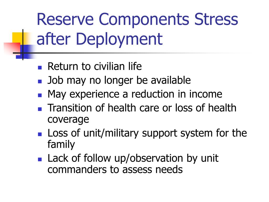 Reserve Components Stress after Deployment