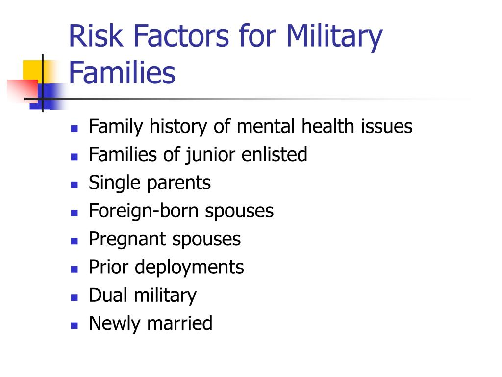 Risk Factors for Military Families