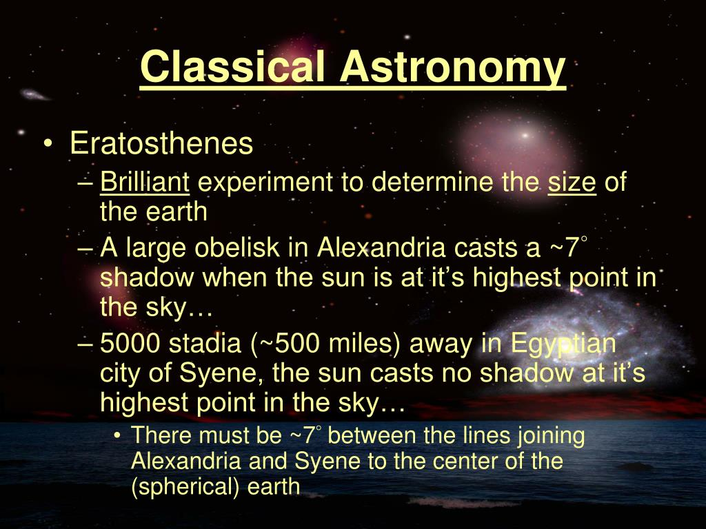 Classical Astronomy