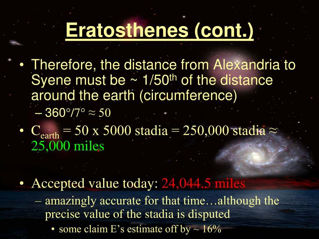 Eratosthenes (cont.)