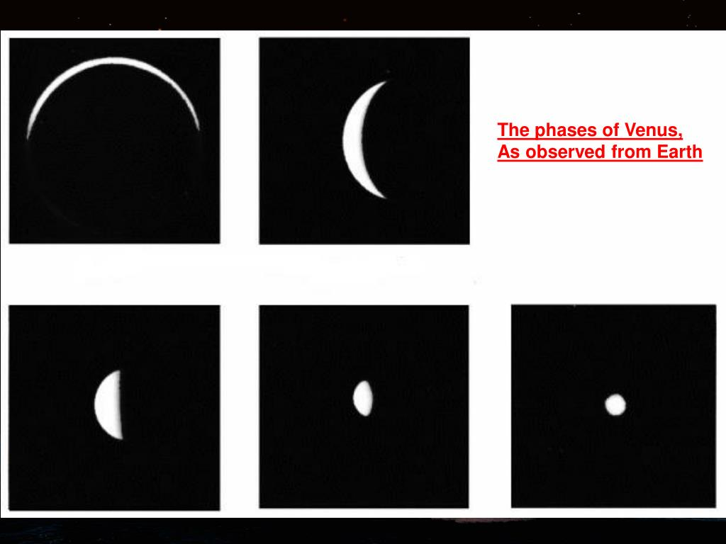 The phases of Venus,