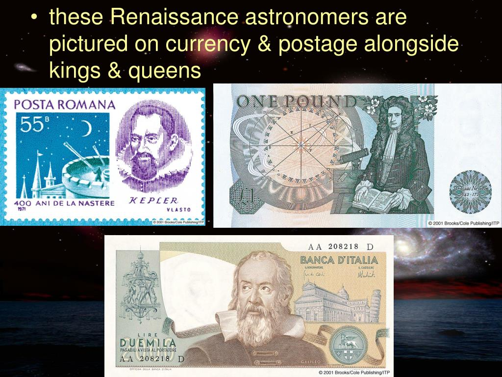 these Renaissance astronomers are pictured on currency & postage alongside kings & queens
