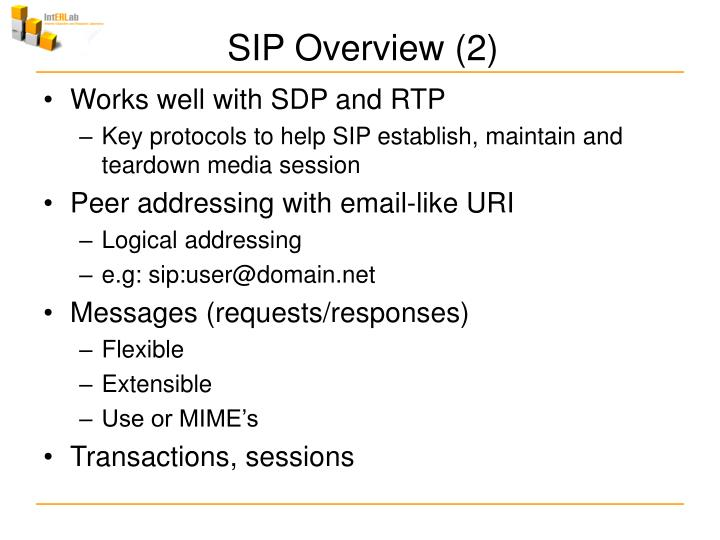 SIP Overview (2)