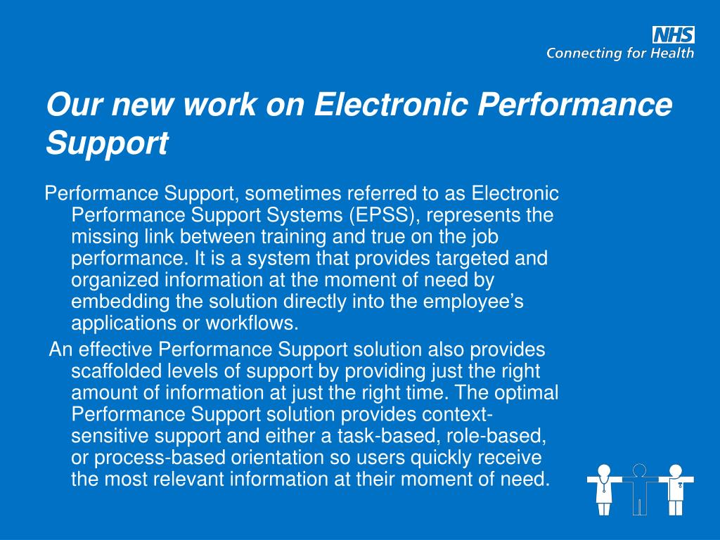 Our new work on Electronic Performance Support