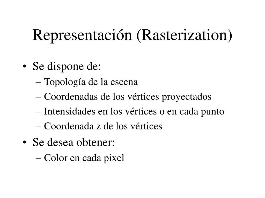 Representación (Rasterization)