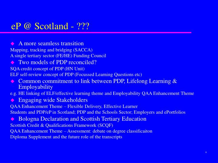 eP @ Scotland - ???