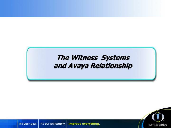 The Witness  Systems