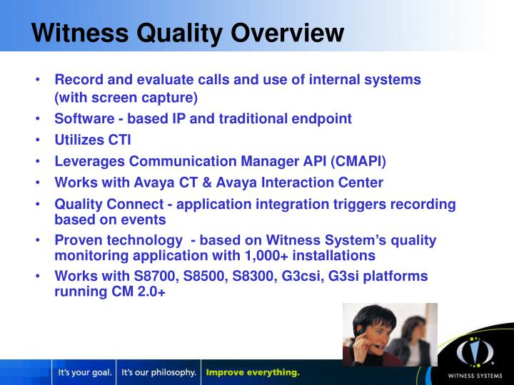 Witness Quality Overview