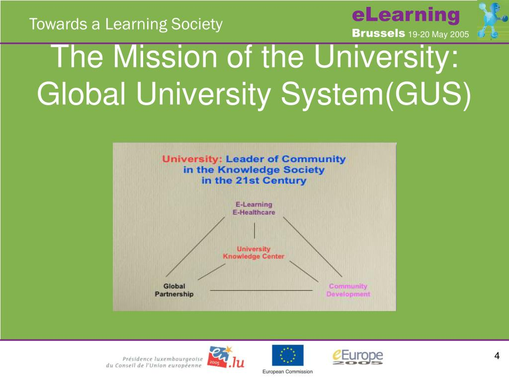 The Mission of the University: Global University System(GUS)