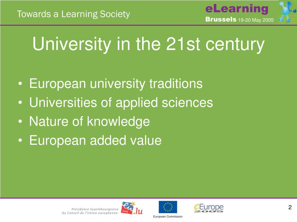University in the 21st century