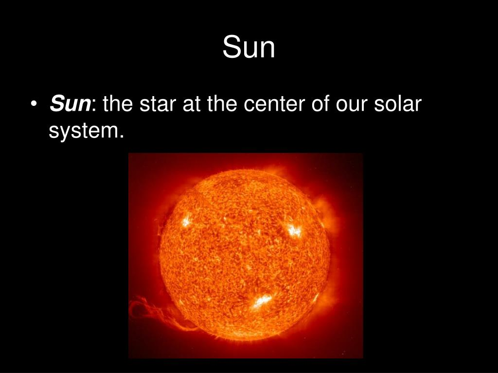sun as center of solar system - photo #25