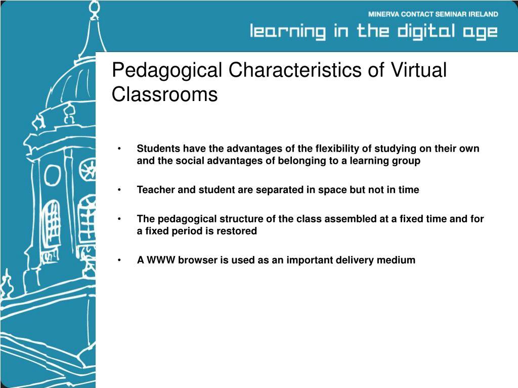 Pedagogical Characteristics of Virtual