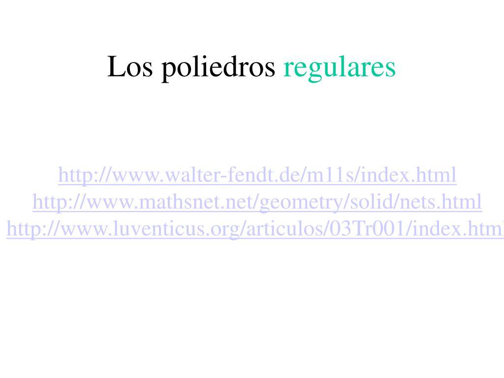 Los poliedros