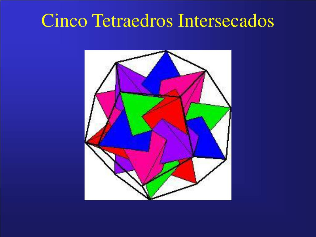 Cinco Tetraedros Intersecados