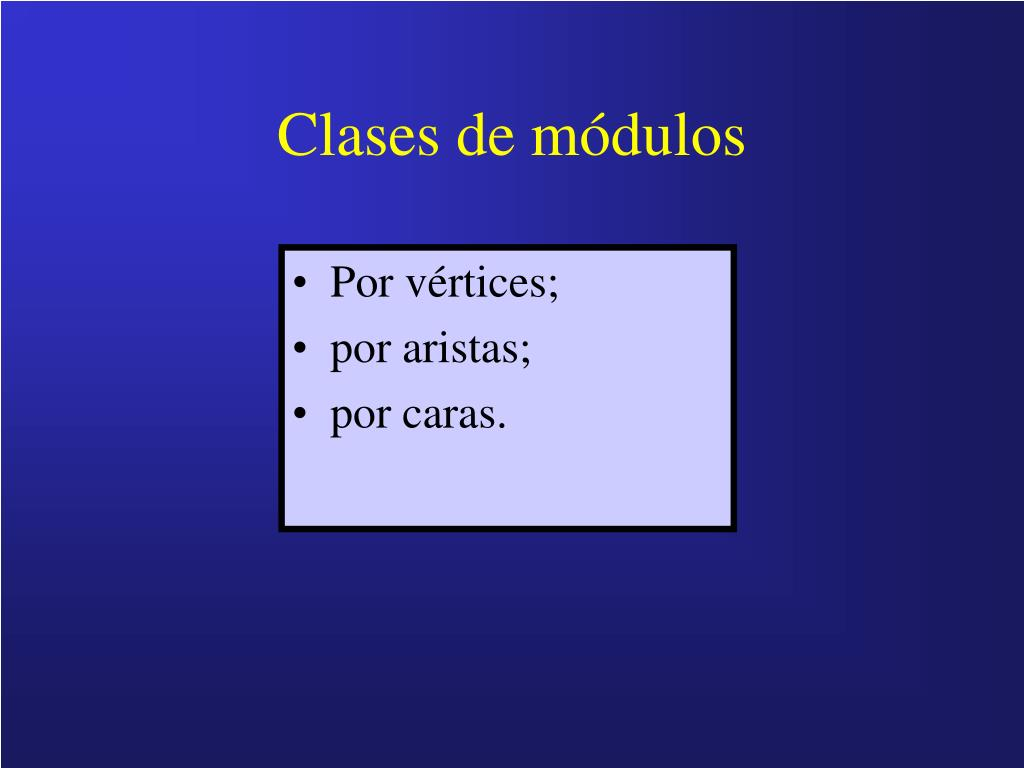 Clases de módulos