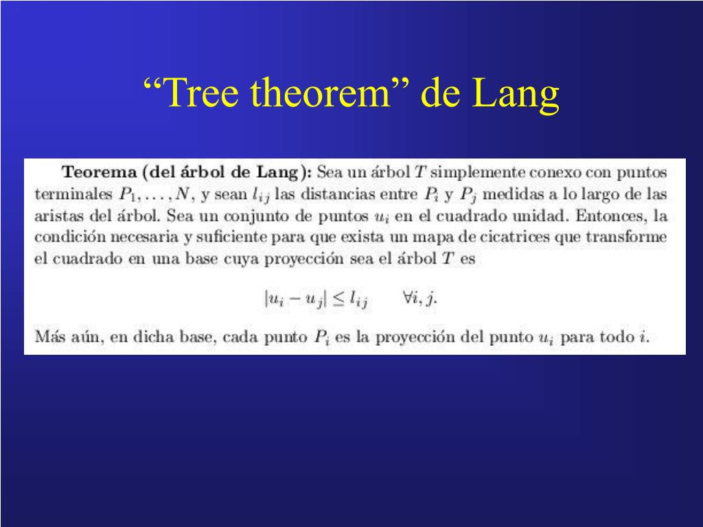 """Tree theorem"" de Lang"