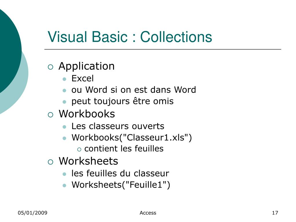 Visual Basic : Collections