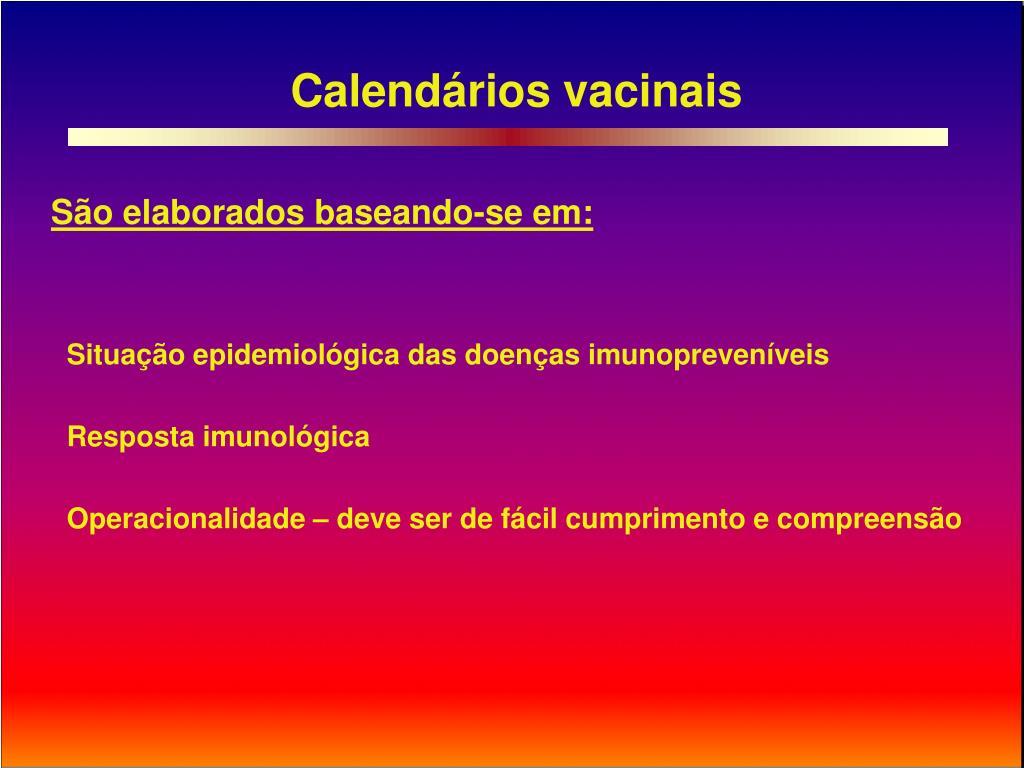 Calendários vacinais