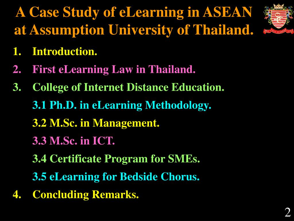 A Case Study of eLearning in ASEAN