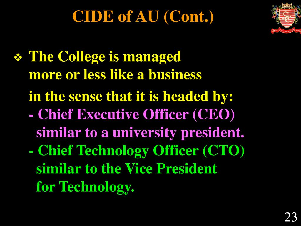 CIDE of AU (Cont.)